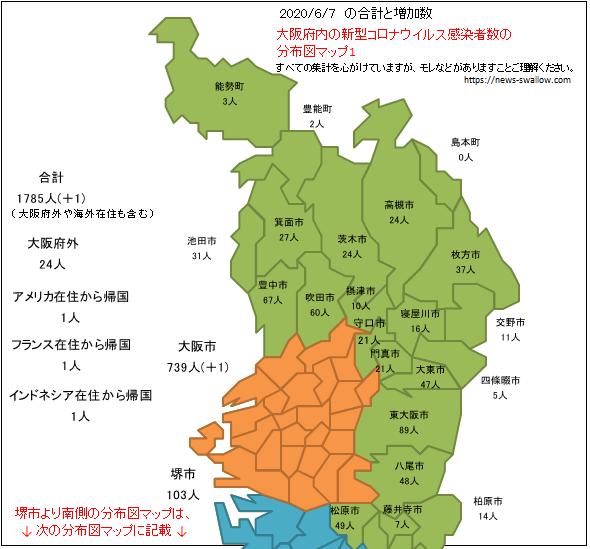大阪府 府内 新型 コロナウイルス 新型肺炎 感染者数 分布図 マップ 場所 どこ 2020年 今日 本日 現在 現時点 最新 情報 まとめ 陽性 コロナマップ 5月30日 5月31日 6月1日 6月2日 6月3日 6月4日 6月5日 6月7日 6月8日 6月9日 6月10日 6月11日 6月12日 6月13日 6月14日 6月15日 6月16日 6月17日 6月18日 6月19日 6月20日 6月21日 6月22日 6月23日 6月24日 6月25日 6月26日 6月27日 6月28日 6月29日 6月30日