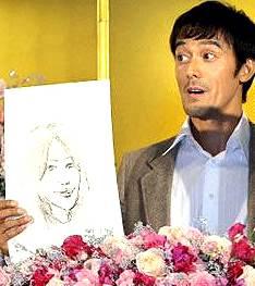 阿部寛 嫁 画像 顔 写真 結婚相手 似顔絵 子供